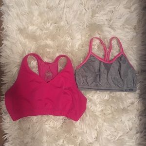 2 Under Armour and Champion Sports Bras